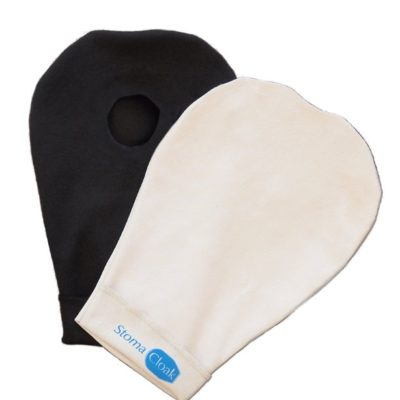 Beige and Black StomaCloak Stoma Ostomy Pouch and Bag Covers